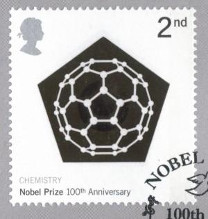 노벨상 100주년을 맞아 크로토가 디자인한 화학상 부문 우표